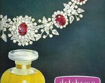 Detchema Revillon Paris French Perfume advert 1964 print advertisement advert Wall Art Home Decor Vintage Print Colour Print