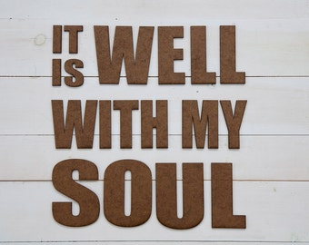 Custom Signs, Wall Signs, It Is Well With My Soul, hymn, Faith,