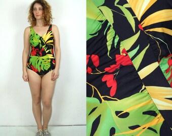 80's vintage women's Hawaiian one piece swimsuit/ swimwear