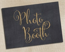 Photo Booth Wedding Sign, Rustic Wedding, Glitter Chalkboard Wedding Sign, Photo Booth Printable, Photo Booth Prop, Table Sign