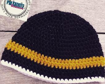 3 color Beanie Hat Preemie - Adult
