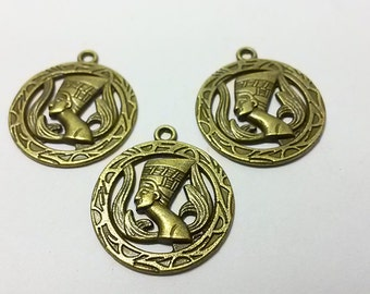 20  pcs   Antique Brass  EGYPTIAN  Charms  , EGYPTIAN  Pendants     22 mm x   25 mm