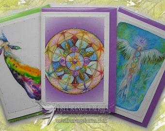 Spirit Pack of 3 Blank Glitter Cards