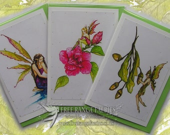 Fairy Seasons Card Pack/fairy greetings card/Birthday Card/Note Card/Pretty Cards/Fantasy/Faerie Cards/Spring/Summer/Autumn/Faerie Cards