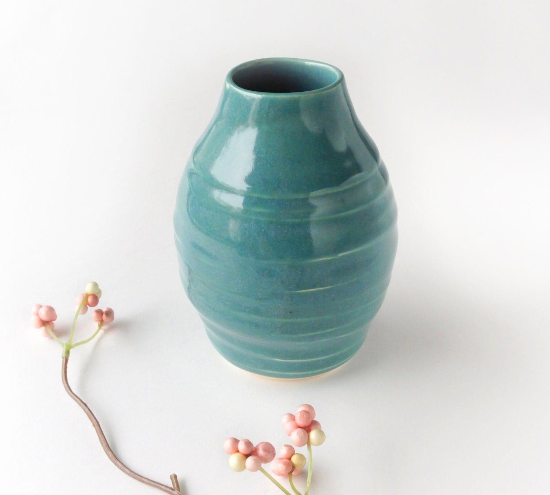 teal vase textured vase modern ceramic home decor by modernmud. Black Bedroom Furniture Sets. Home Design Ideas