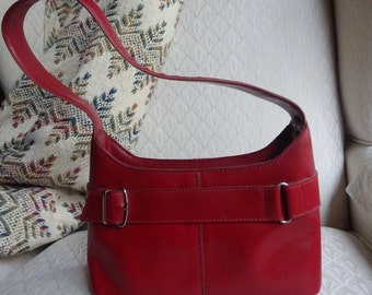 Leather Purse, Red Leather Purse, Vintage Purse, Ladies Vintage Purse, Ladies Vintage Leather Purse