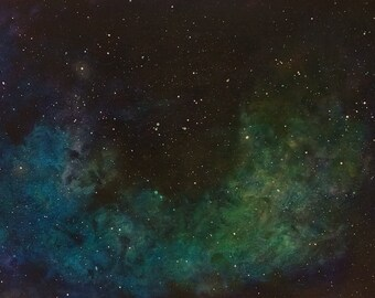 Space Painting Original Nebula