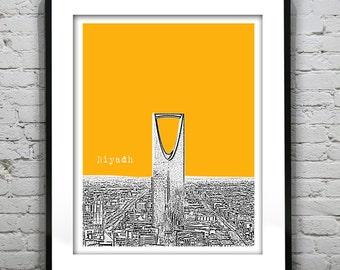 Presidents Day Sale 15% Off - Riyadh Saudi Arabia Skyline Art Print Middle East Version 2