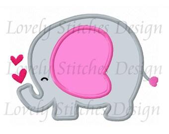 Elephant Applique Machine Embroidery Design NO:1317
