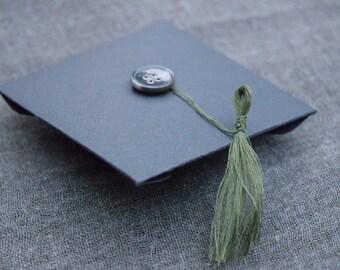"Graduation ""congratulations"" card, commencement tassel card, grad money holder"