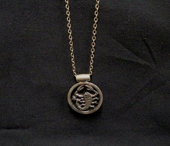 Vintage sarah coventry scorpio pendant necklace by retrogal415 for Vintage sarah coventry jewelry catalog