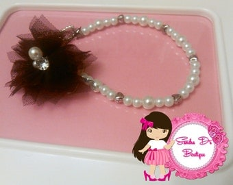 Pearl pacifier holder/clip