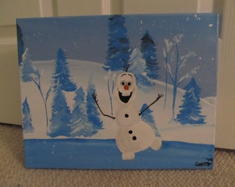 Frozen Olaf Painting