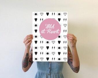 A3 Wild at Heart Print