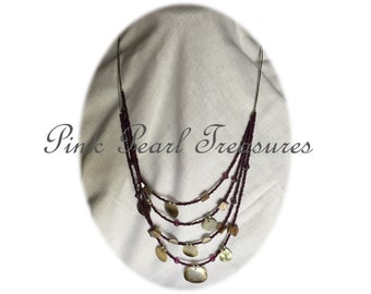 She Sells Seashells multi strand necklace