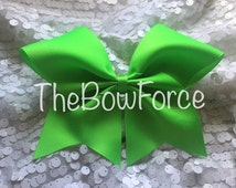 """3"""" Solid Neon Green Cheer Bow - #185777350"""