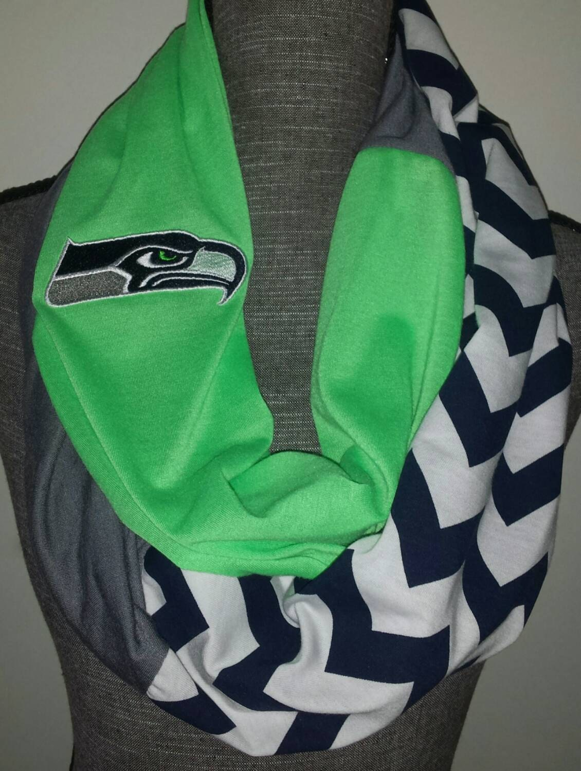 seahawks scarf infinity scarf with optional by itspeachykeen