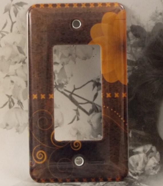 Metal Chocolate Rocker Light Switch Cover Swirls By