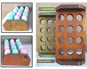 Reclaimed Wood Egg Holder Tray Rustic Food Organizer Storage Easter Farmhouse Vintage Country Kitchen Decor Retail Display Foodie Gift Ideas