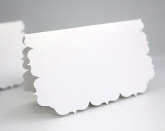 Shimmer place cards, White seating cards, Wedding placecards, Wedding name cards, Fancy place cards, Place settings, Wedding favor cards