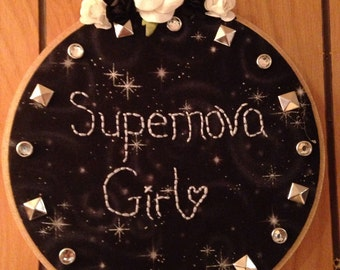 Supernova Girl Embroidery Hoop