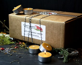 100 BEESWAX TEA LIGHTS, bulk beeswax tea lights, 100 Tealights- wedding favors, party favors, 100% Pure Beeswax Candles