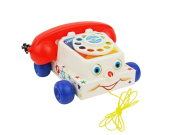 Vintage pull Toy - Fisher Price phone - 1961