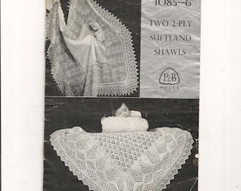 Knitting  Patern 2ply Shetland Shawls INSTANT DOWNLOAD PDF