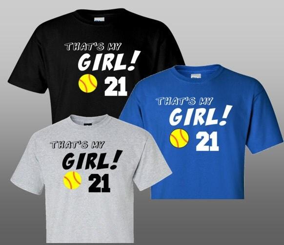Yellow Softball Shirts Softball Dad or Mom Shirt