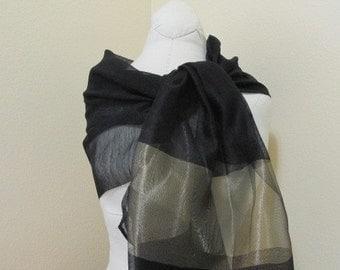 Hand Dyed Silk  Scarf, Shawl, Gift