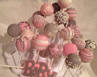 24 Baby Shower custom color cake pops, match any color scheme 2 dozen