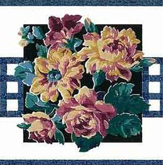 Blue White Floral Wallpaper Border Eisenhart Gp19402