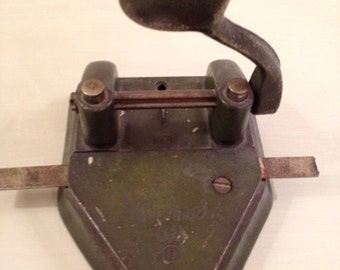 Antique Marvel 60 two hole punch Manufactured by Wilson Jones Co, Chicago