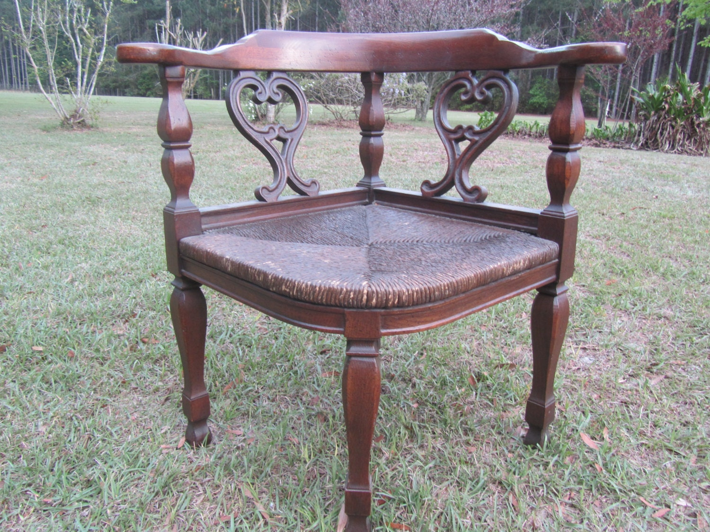 vintage corner chair mid century chair wood chair