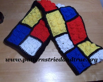 Lego Scarf Easy Crochet Pattern DIY