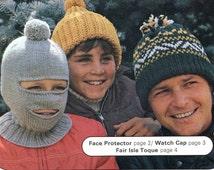 TWELVE WINTER ACCESSORIES - Hats Scarves Mitts Gloves Knitting & Crochet Pattern  Book - Nice Variety - Kenyon Books Original Hard Copy