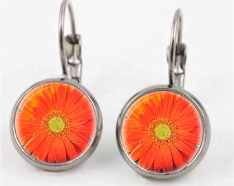 Gerbera Earrings or Ring