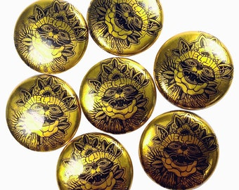 "100 Custom SILVER or GOLD Full Color 1 "" Inch Buttons / Badges"