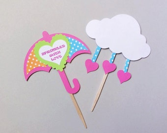 Sprinkled with Love - Baby Shower Cupcake Toppers - Baby Sprinkle Shower Decorations