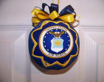 U.S Air Force Quilted Ornament/Patriotic/Air Force Emblem/Military Quilted Ornament