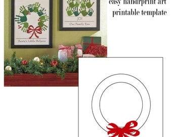 Christmas Handprint Art printable