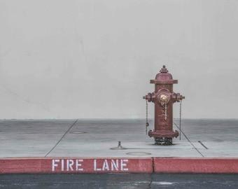 Street Fire Hydrant Fire Lane Firefighter Gift Fine Art Photograph