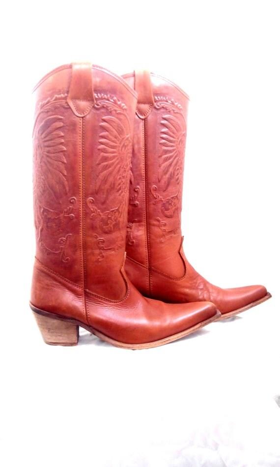 vintage boots boots j chisholm boots eagle by elismile