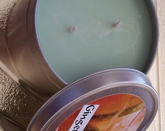 SOY CANDLE 8 OZ. Tin Ginger-Lime