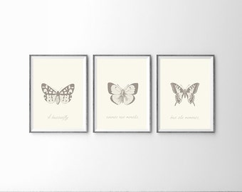 "SALE 46"" x 18"" - Kids Room Wall Art - Butterfly Collection"