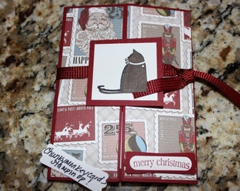 Stampin up Merry Christmas Cat Letters to Santa 3369