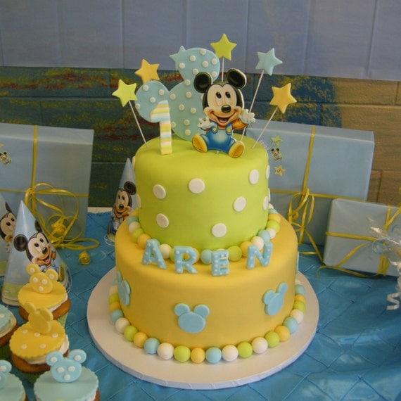 Mickey Mouse Birthday Fondant Cake Toppers Birthday Wikii