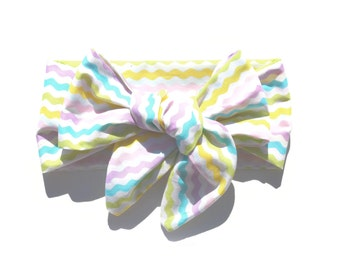 Baby Girl Big Bow Head Wrap / Stripe / Toddler Bow / Infant / Child / Adult / Baby Girl Headband / Turban / Top Knot / Accessories