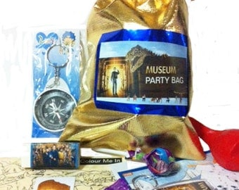 Museum Party Loot Bag with 9 items inside