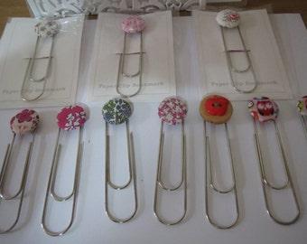 Handmade paperclip bookmark